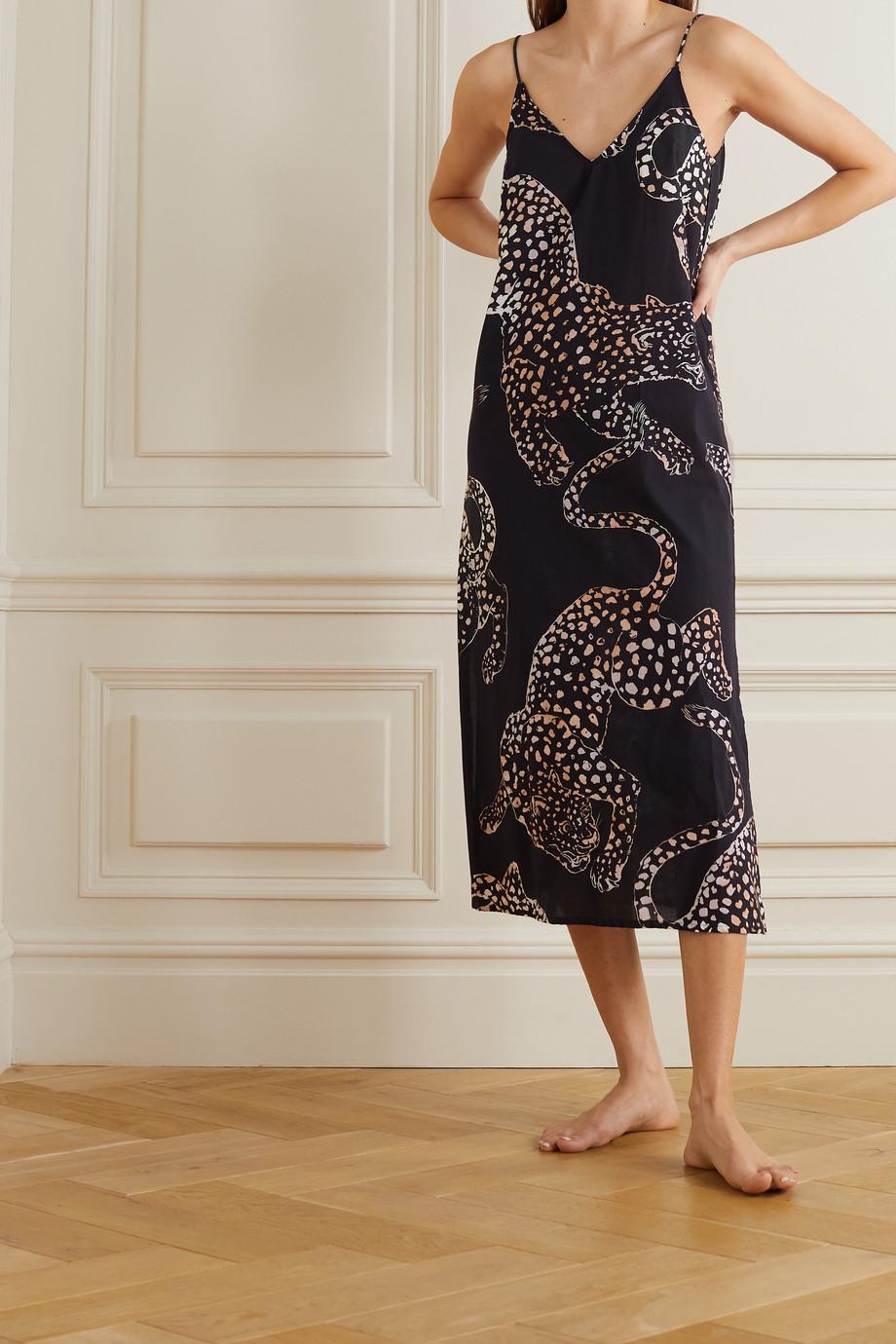 Desmond & Dempsey Jag printed cotton-voile nightdress