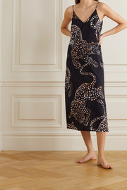 Desmond & Dempsey Jag printed cotton-voile nightdress