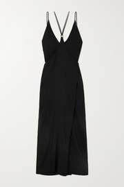 Marika Vera Perdita convertible embellished jersey maxi dress