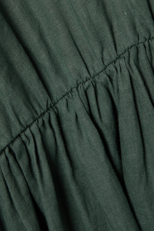 Max Mara + Leisure Dolmen Kleid aus Leinen mit Raffungen