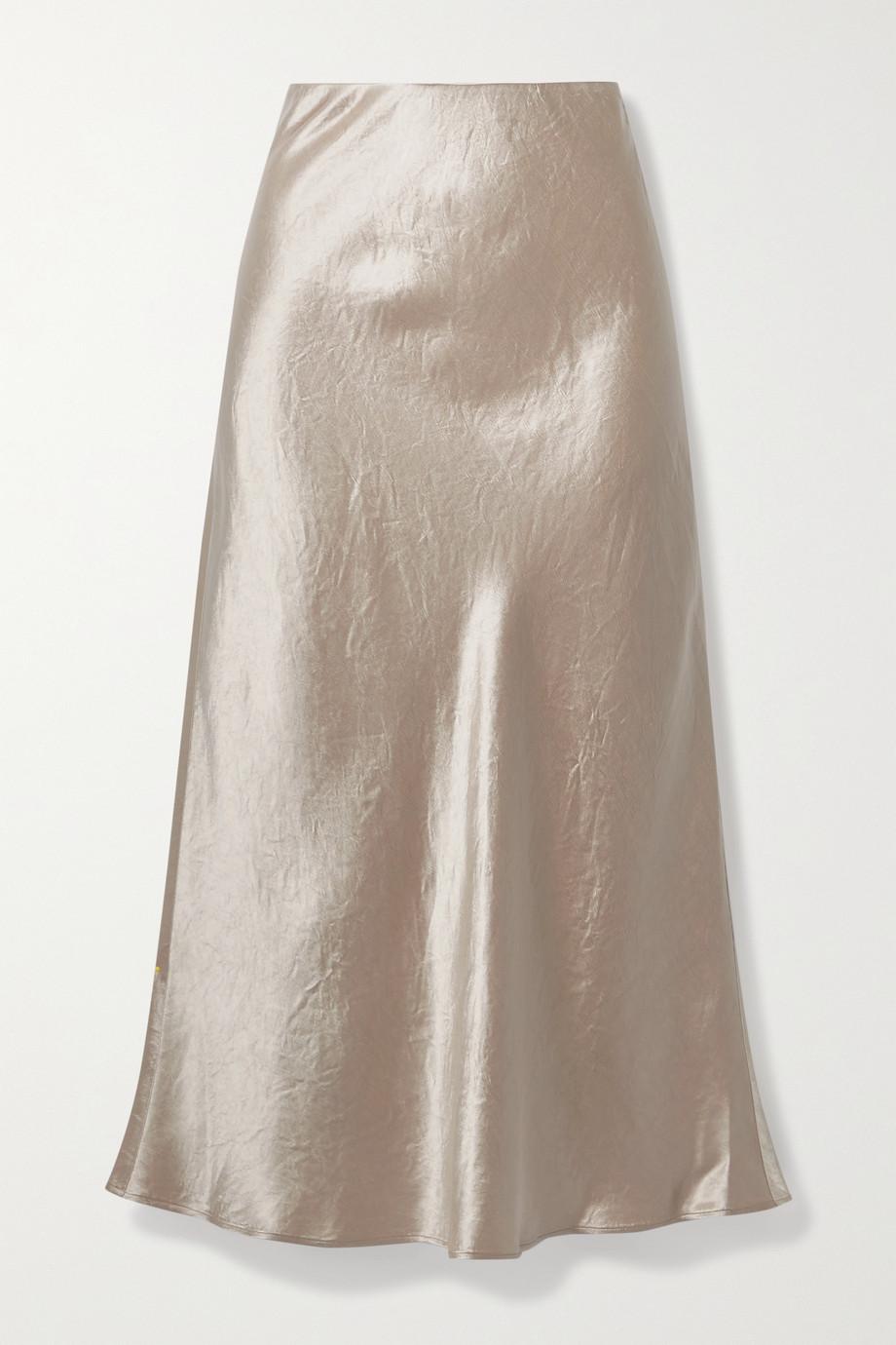 Max Mara + Leisure Alessio washed-satin midi skirt