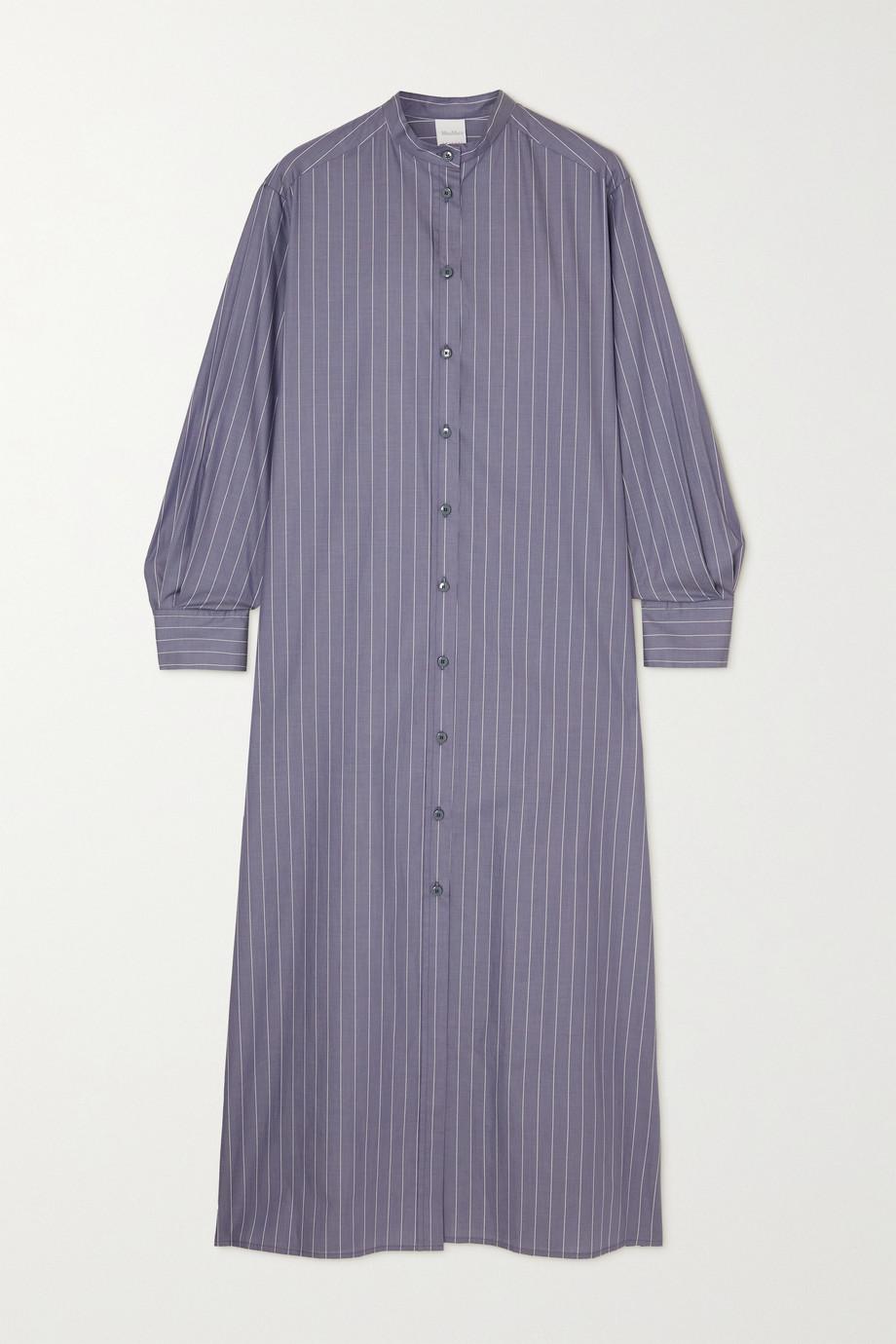 Max Mara + Leisure Ussuri Hemdblusenkleid aus Baumwollpopeline mit Nadelstreifen