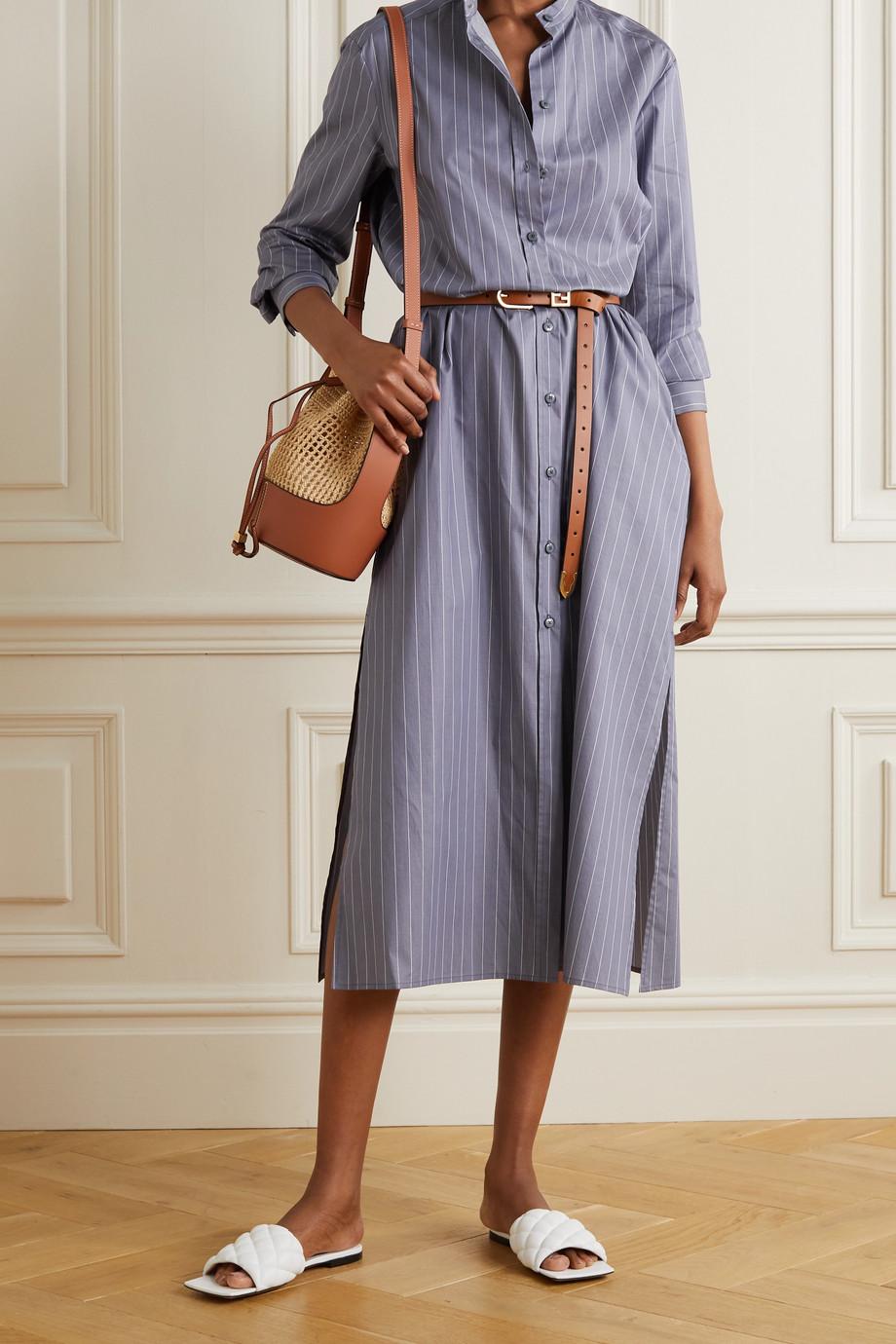Max Mara + Leisure Ussuri pinstriped cotton-poplin shirt dress