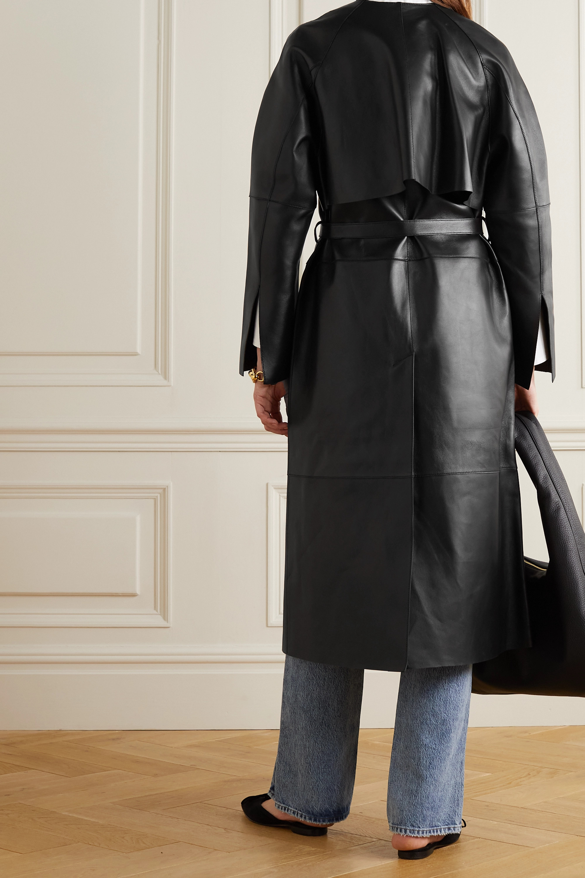 Totême Leather trench coat