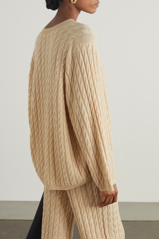 Totême Cable-knit cashmere sweater