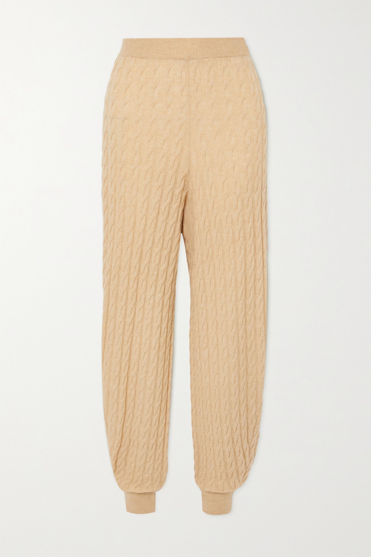 Totême Pantalon de survêtement en cachemire à mailles torsadées