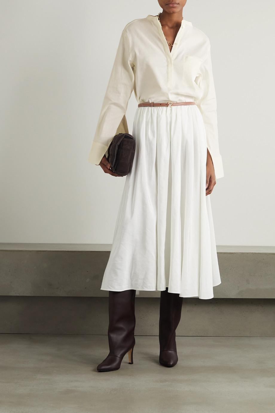 Totême Linen-blend shirt