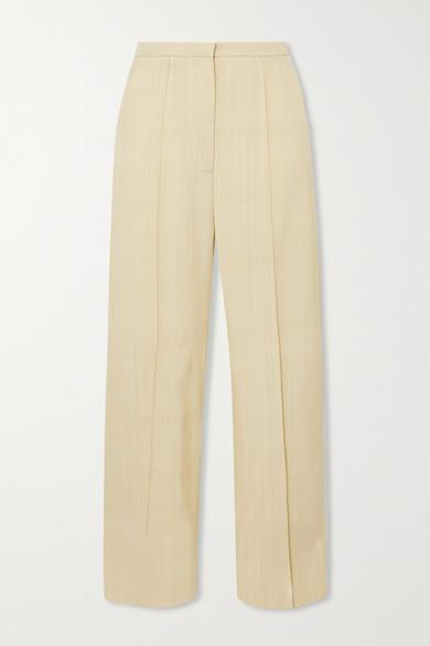 Toteme - Pine Woven Wide-leg Pants - Cream