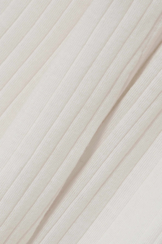 Totême Cardigan en laine mérinos mercerisée côtelée