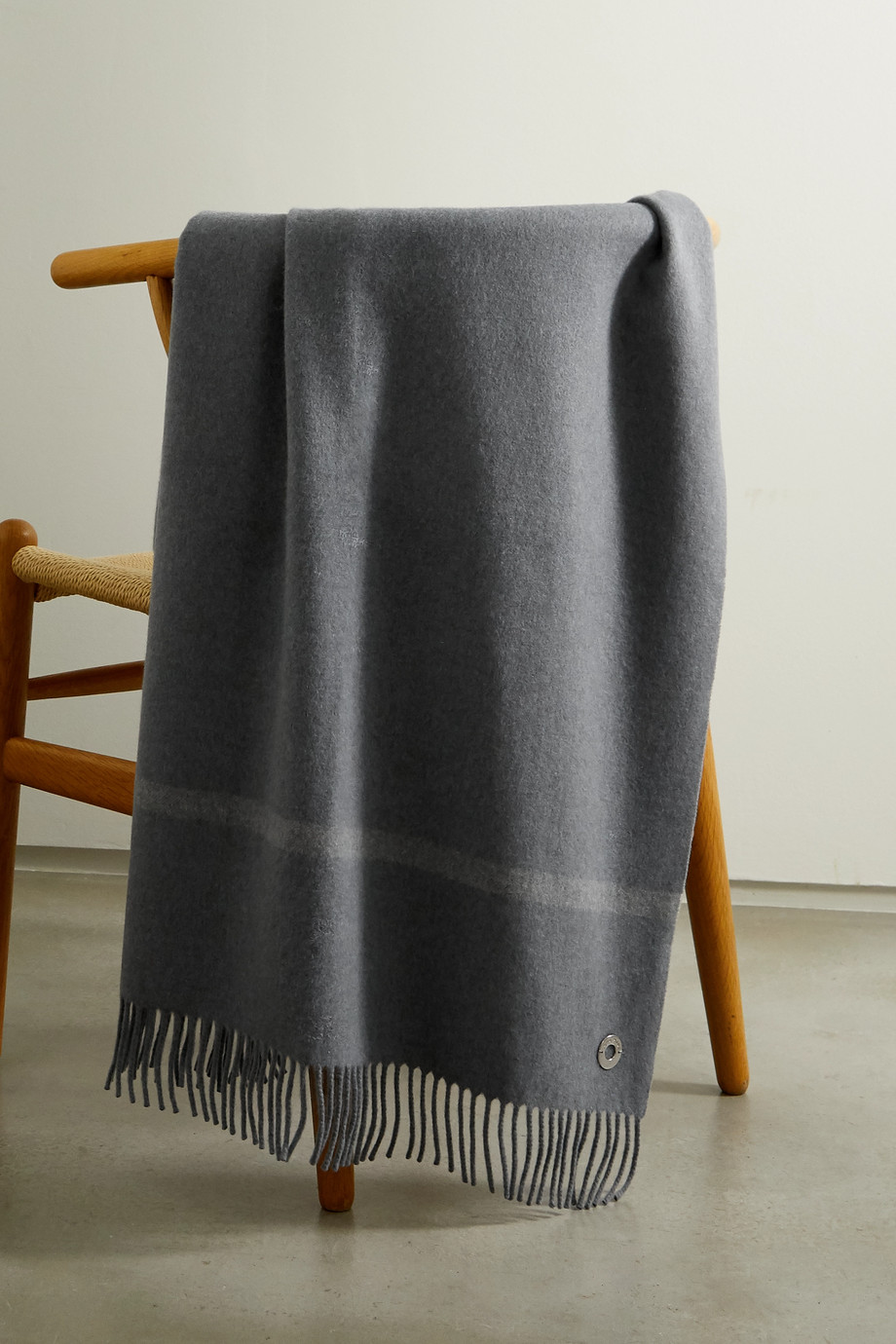 Loro Piana Fringed cashmere throw