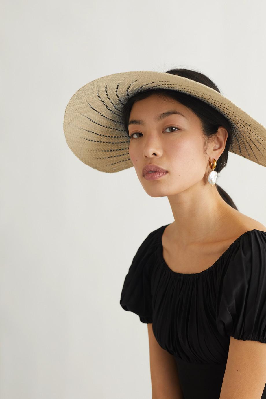 Eugenia Kim Hannah Visor aus Stroh