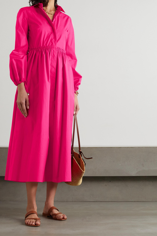 Max Mara Bairo gathered cotton-poplin shirt dress