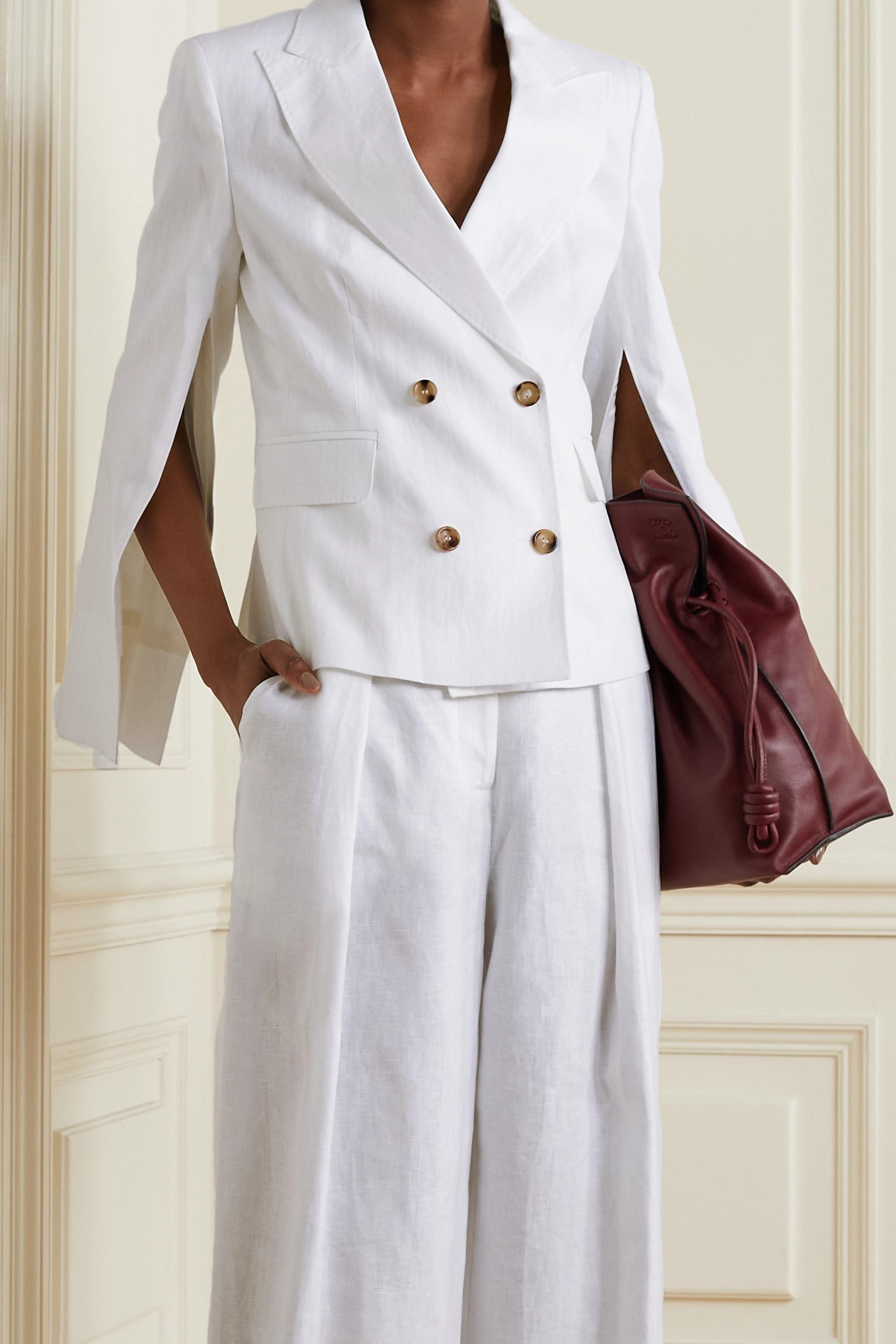 Max Mara Argenta double-breasted linen blazer