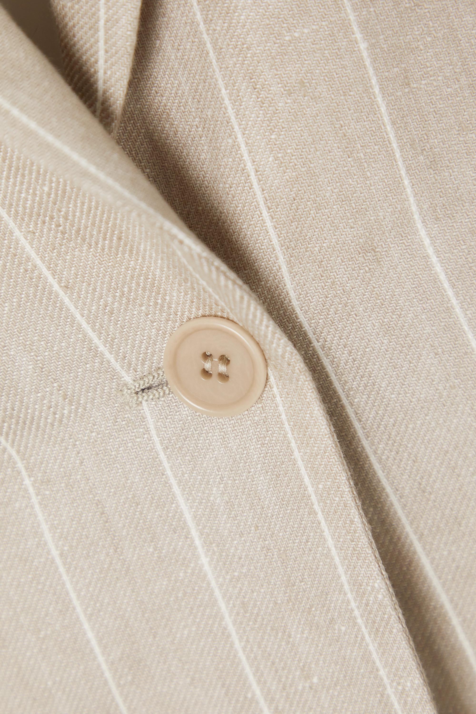 Max Mara Marisa pinstriped linen blazer