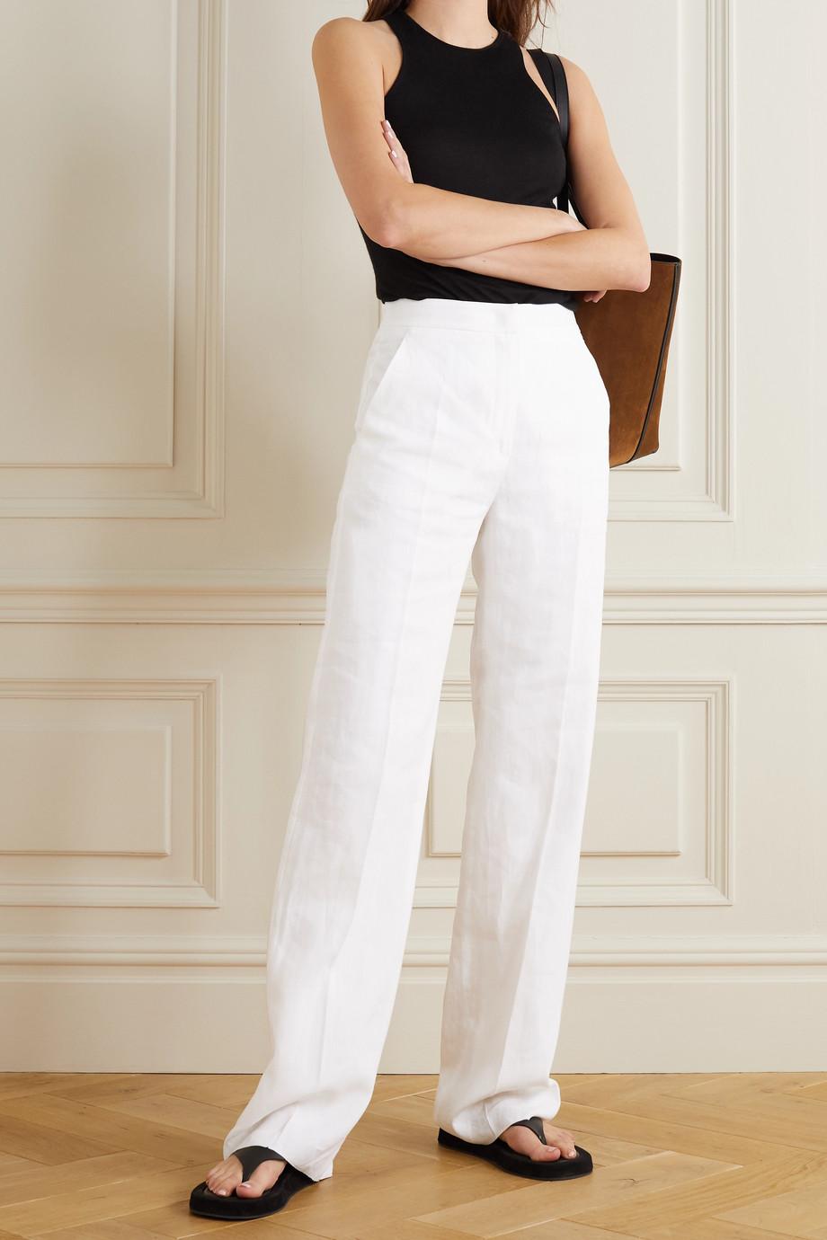 Max Mara Linen wide-leg pants