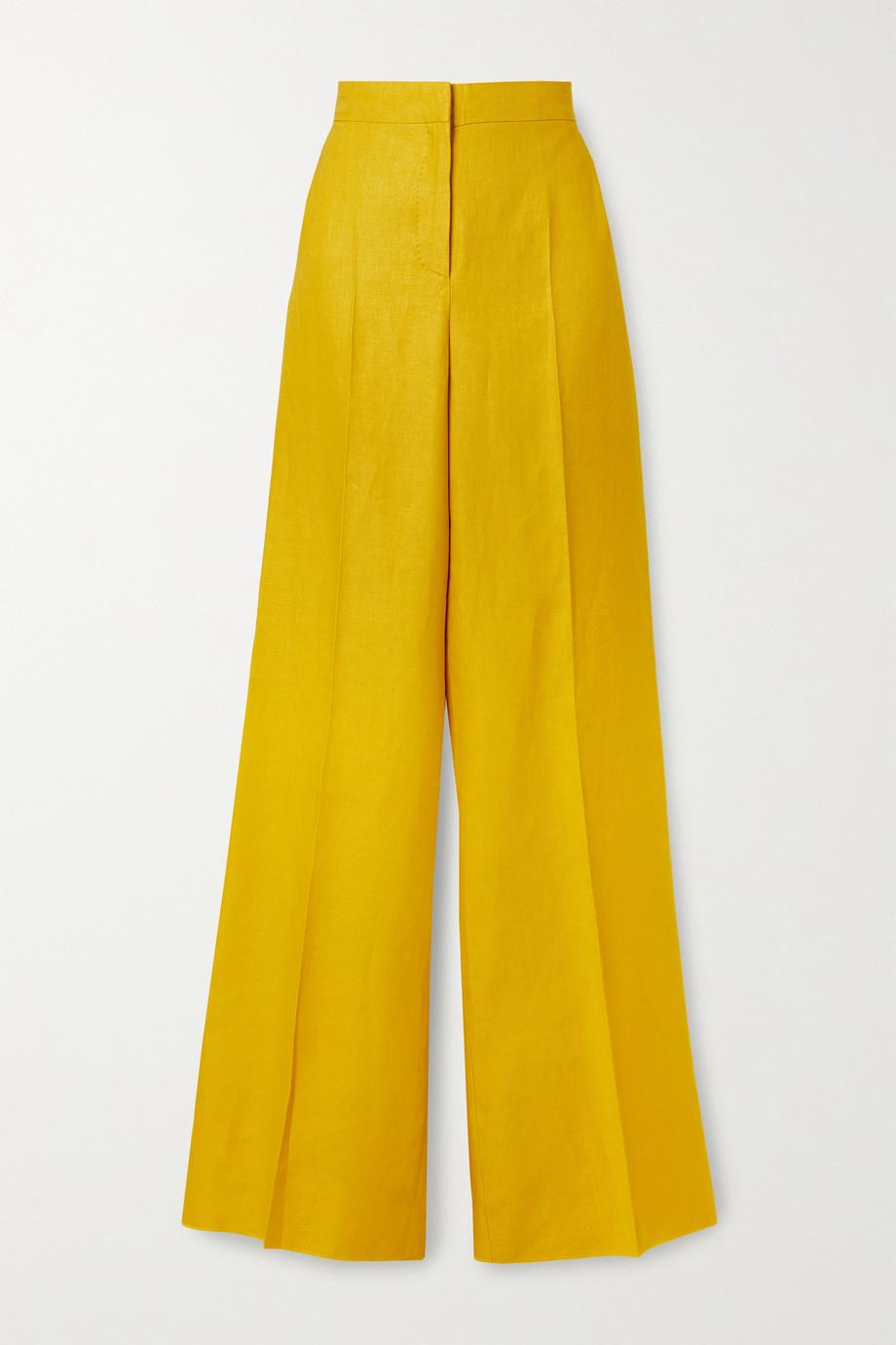 Max Mara Pantalon large en serge de lin Ginosa