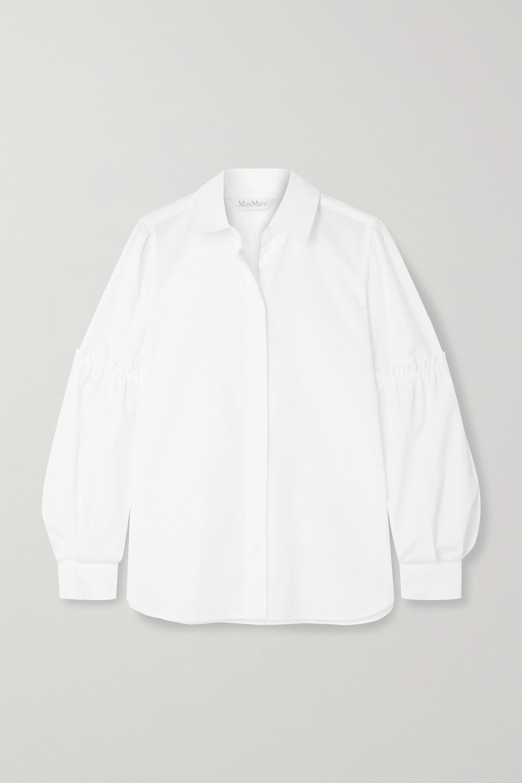 Max Mara Roseto ruffled cotton-poplin shirt