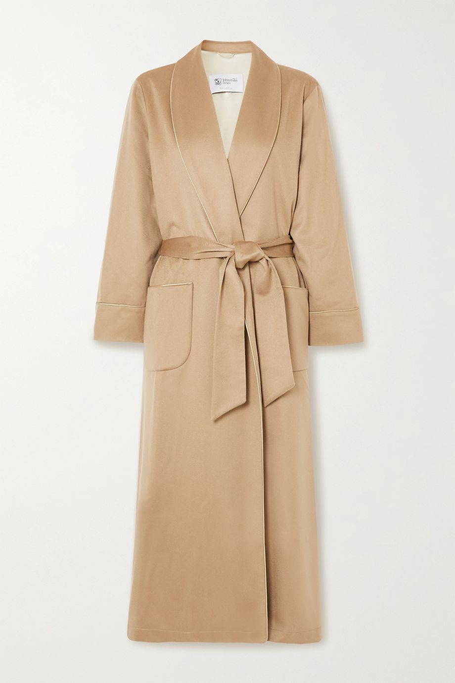 Johnstons of Elgin Belted cashmere robe