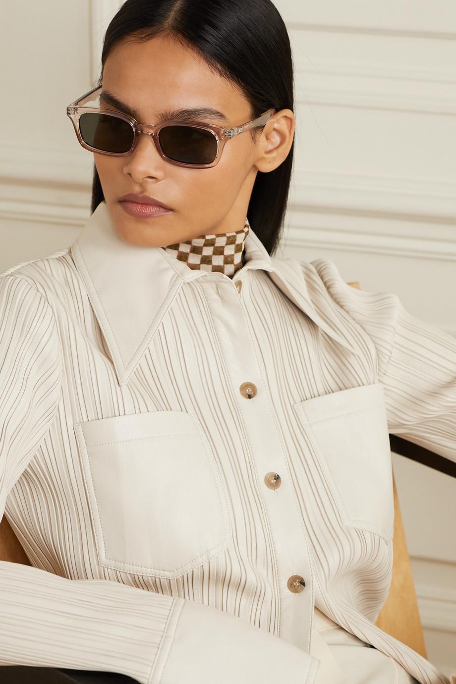 Le Specs Carmito square-frame acetate sunglasses