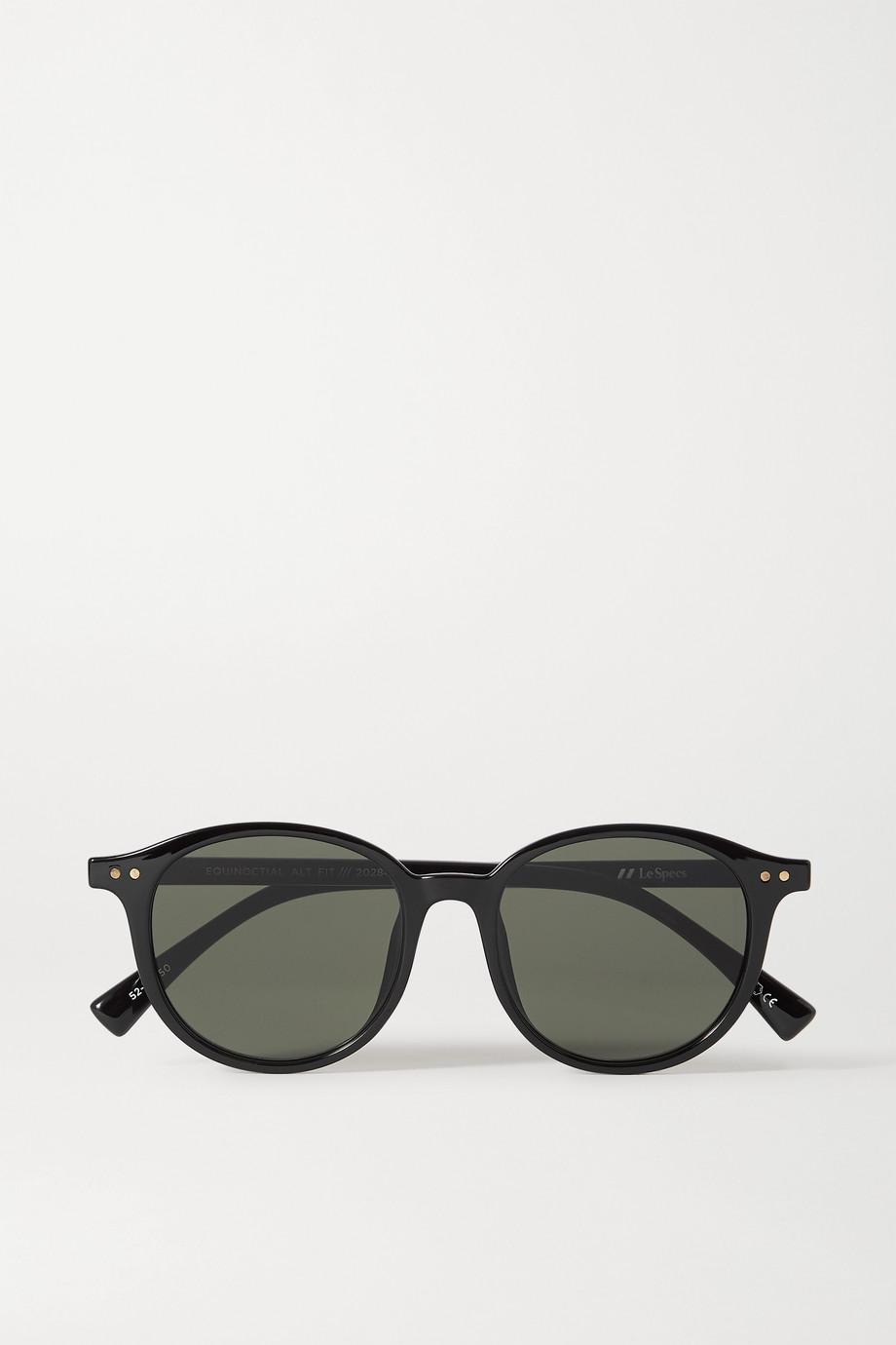 Le Specs Equinoctial round-frame acetate sunglasses