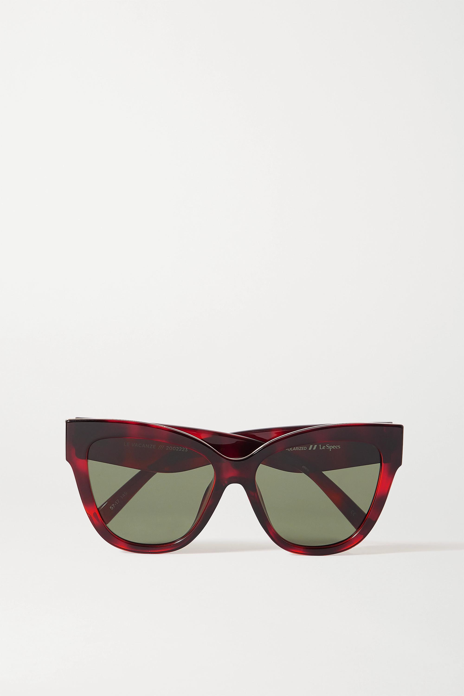 Le Specs Le Vacanze oversized cat-eye tortoiseshell acetate sunglasses