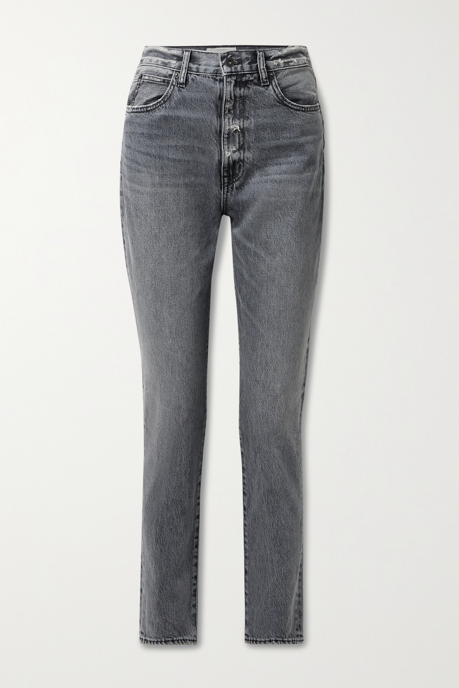 SLVRLAKE Beatnik hoch sitzende Jeans mit schmalem Bein in Distressed-Optik