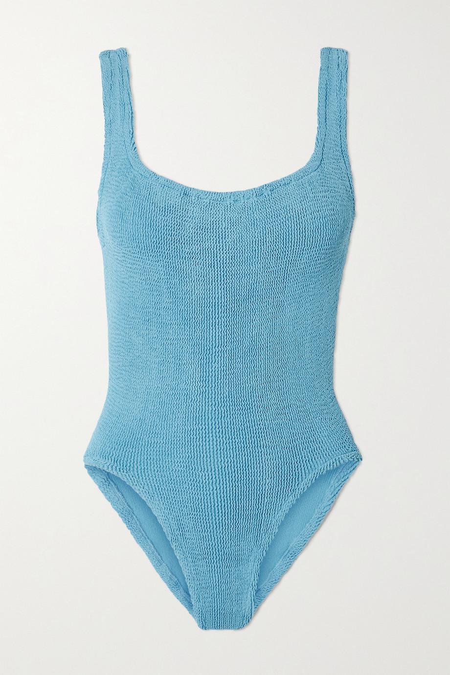 Hunza G + NET SUSTAIN seersucker swimsuit