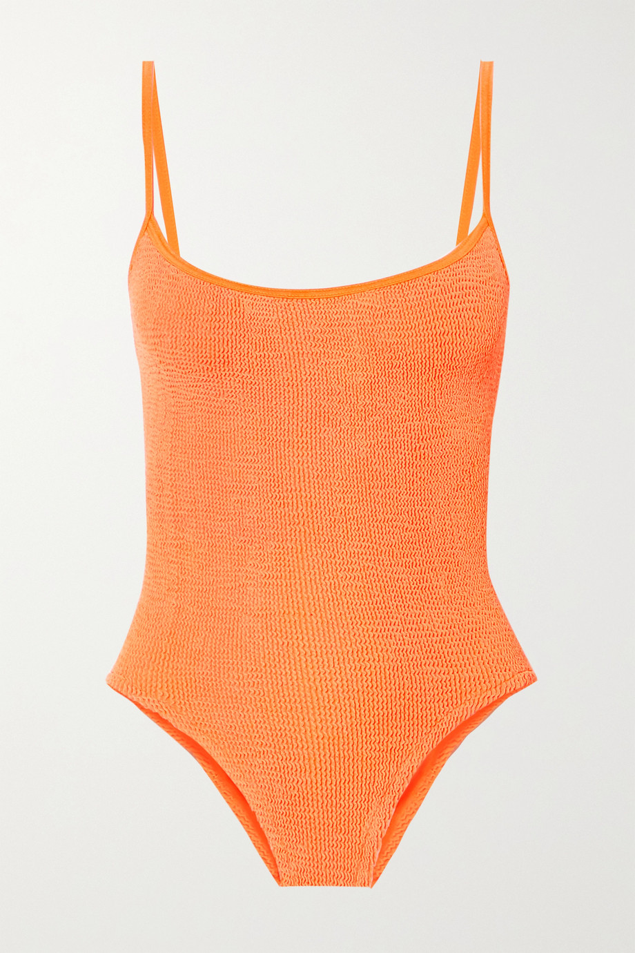 Hunza G + NET SUSTAIN Maria seersucker swimsuit