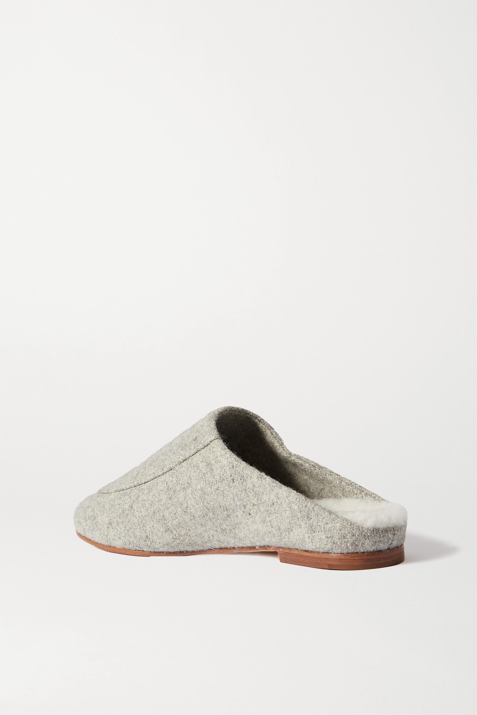 Porte & Paire Slippers aus Filz mit Shearling-Futter
