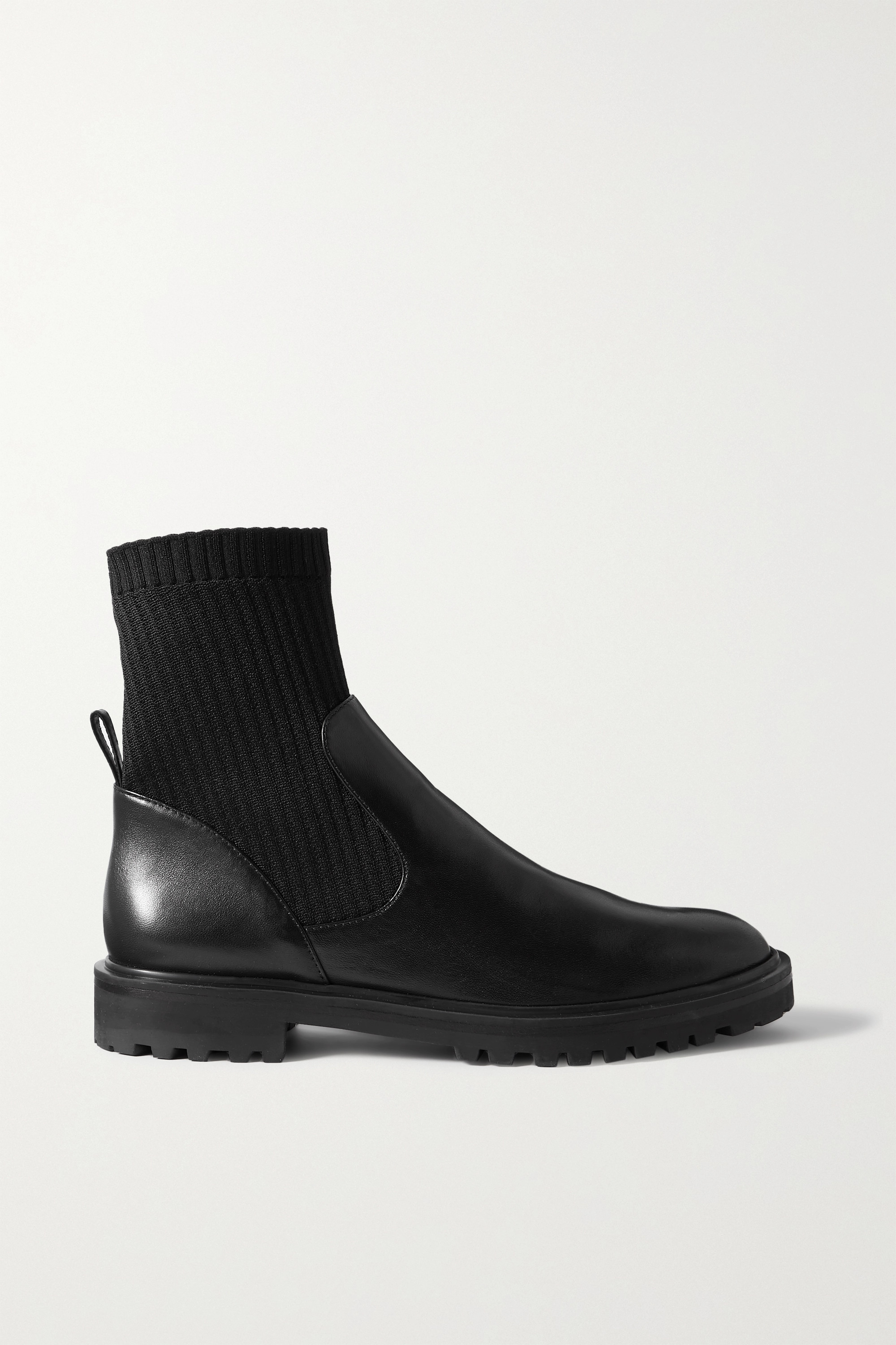 ribbed-knit ankle boots   Porte