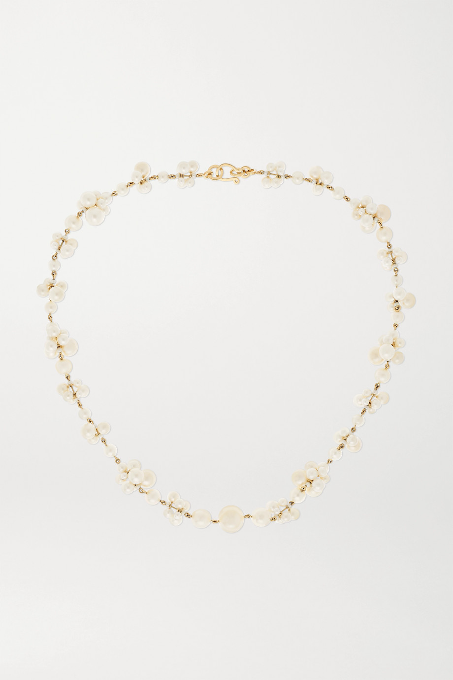 Sophie Bille Brahe Celli 14-karat gold pearl necklace