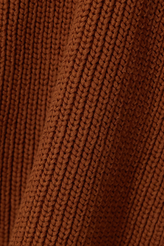 Reformation Montaigne ribbed organic cotton turtleneck top