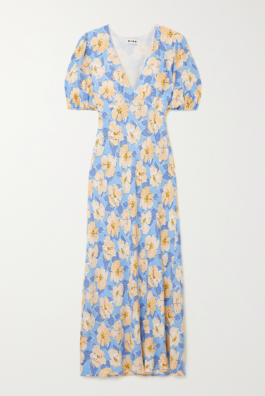 RIXO Poppy floral-print crepe midi dress