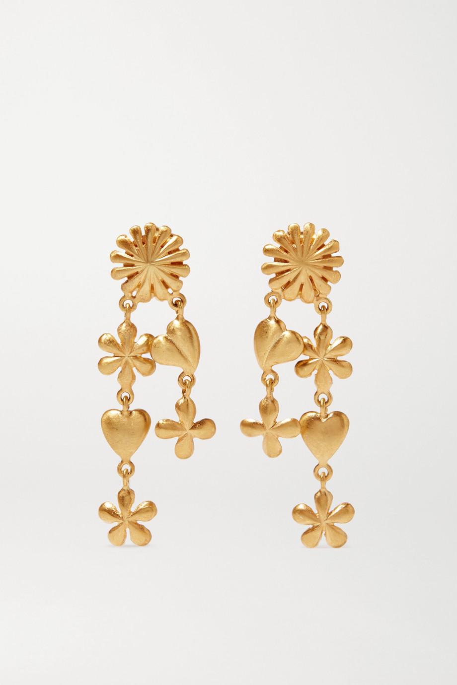 Pippa Small 18-karat gold earrings