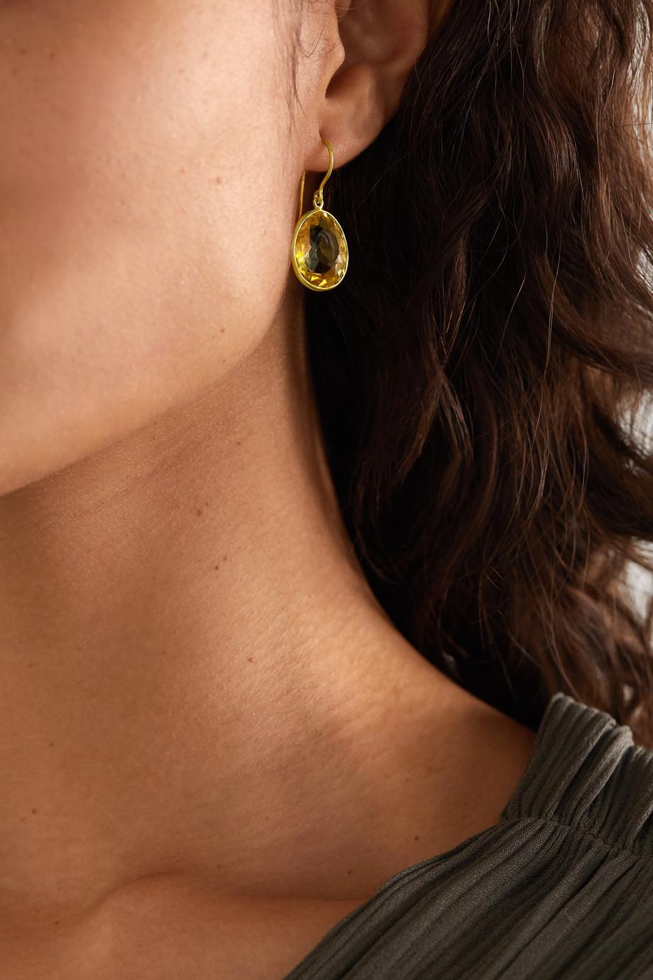 Pippa Small 18-karat gold citrine earrings