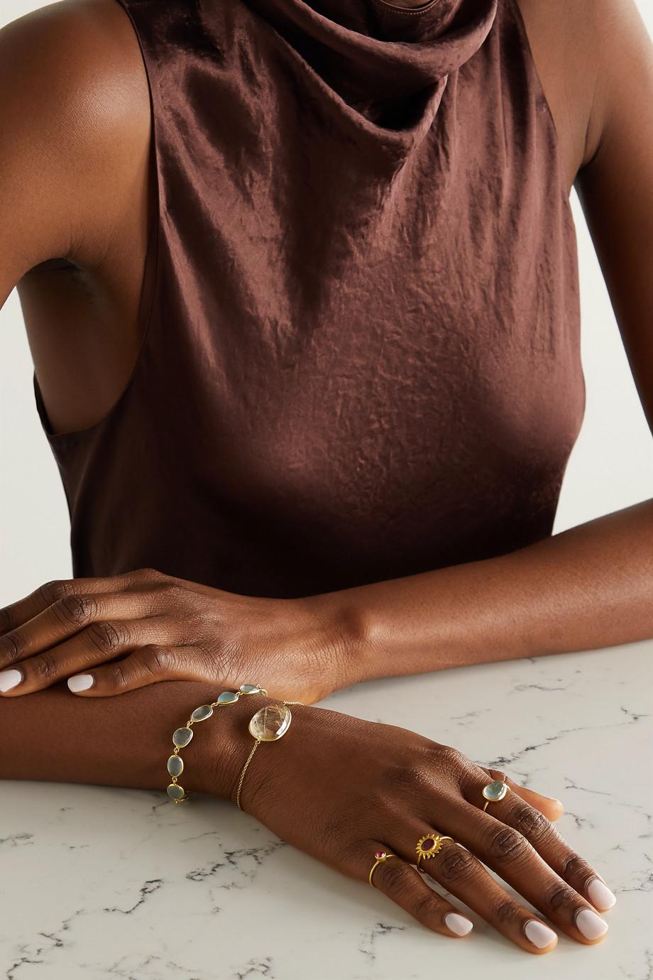 Pippa Small 18-karat gold quartz bracelet