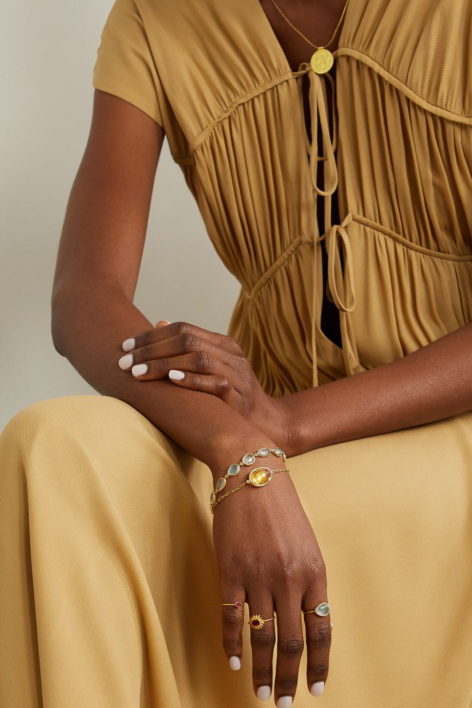 Pippa Small 18-karat gold citrine bracelet