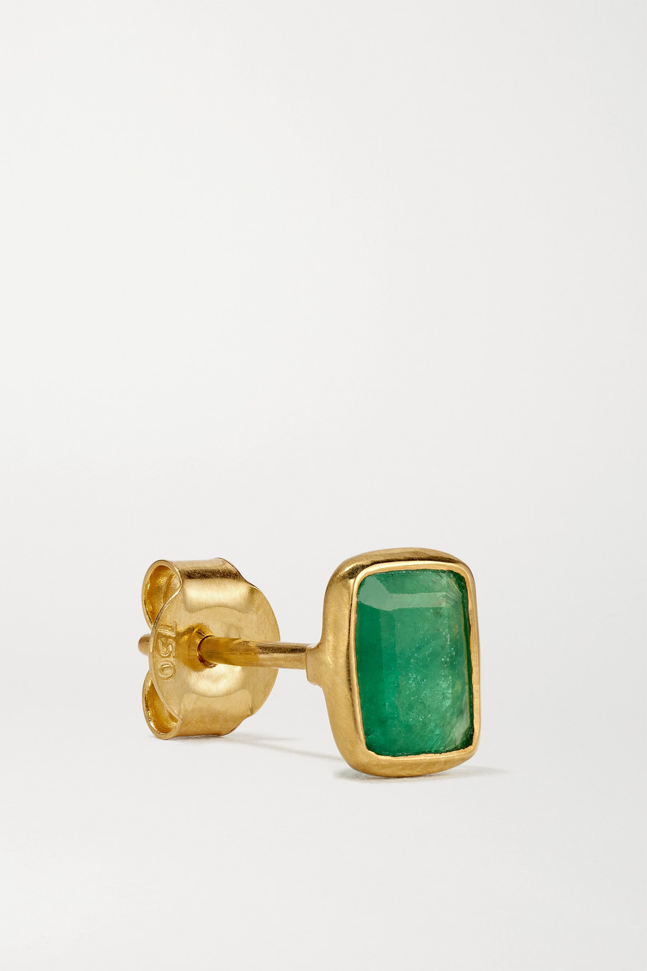 Pippa Small 18-karat gold emerald earrings