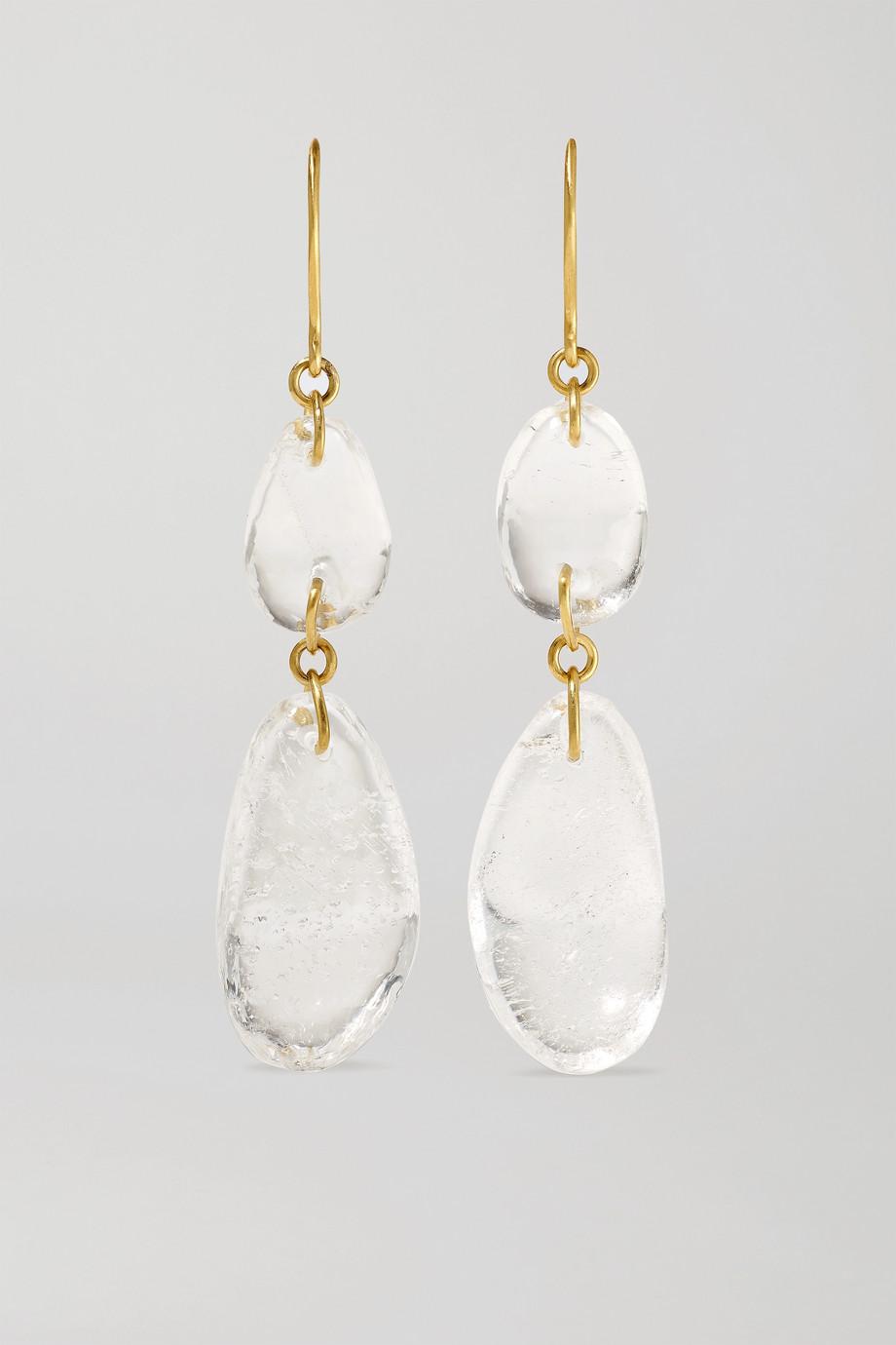Pippa Small Boucles d'oreilles en or 18 carats et cristaux