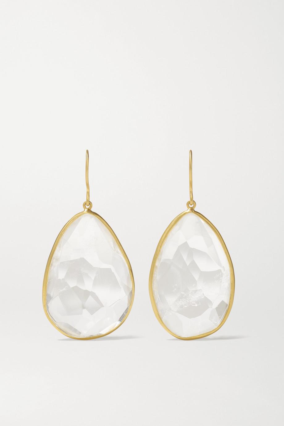 Pippa Small 18-karat gold quartz earrings