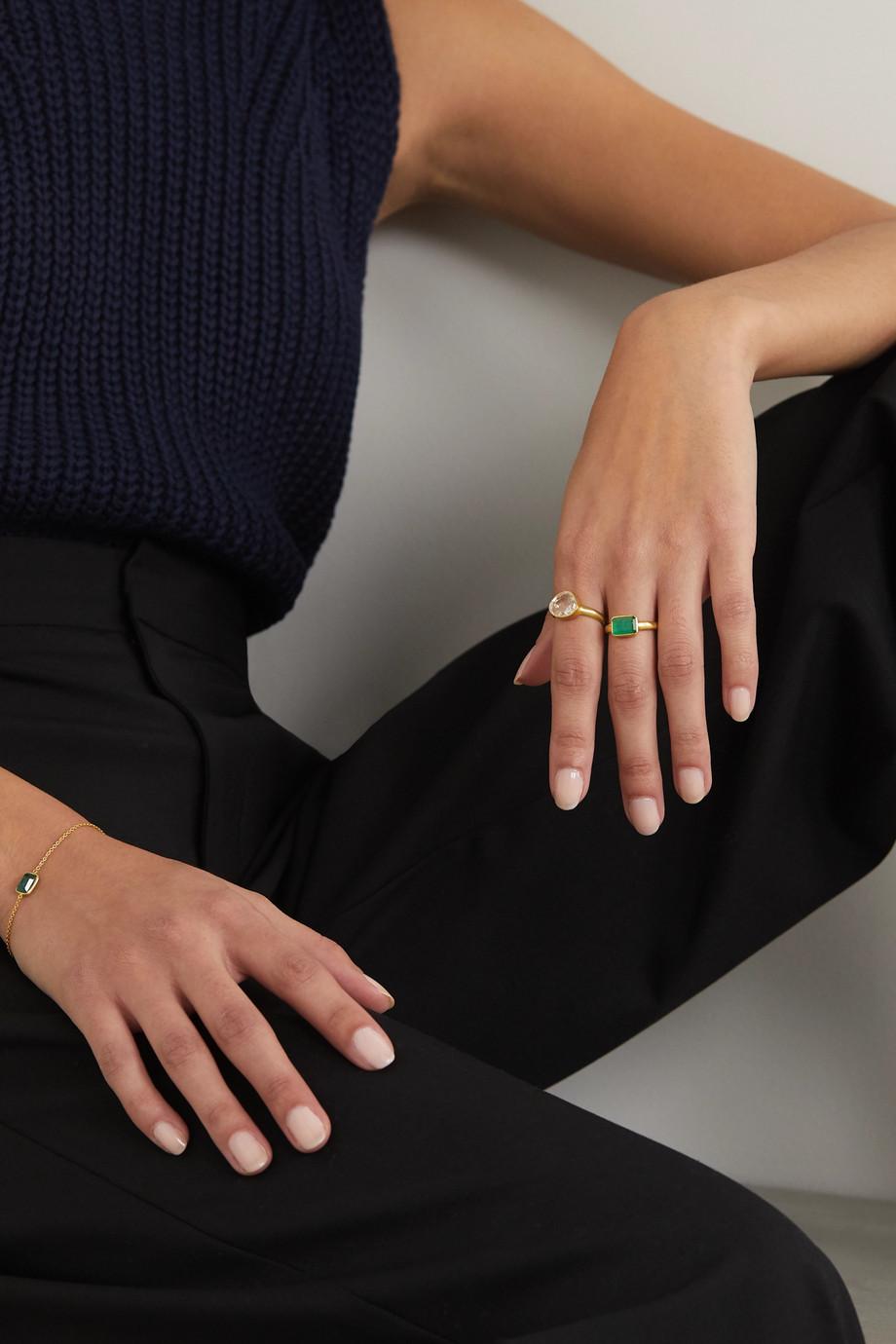 Pippa Small 18-karat gold emerald ring