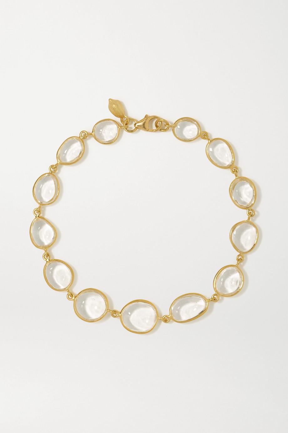 Pippa Small 18-karat gold crystal bracelet
