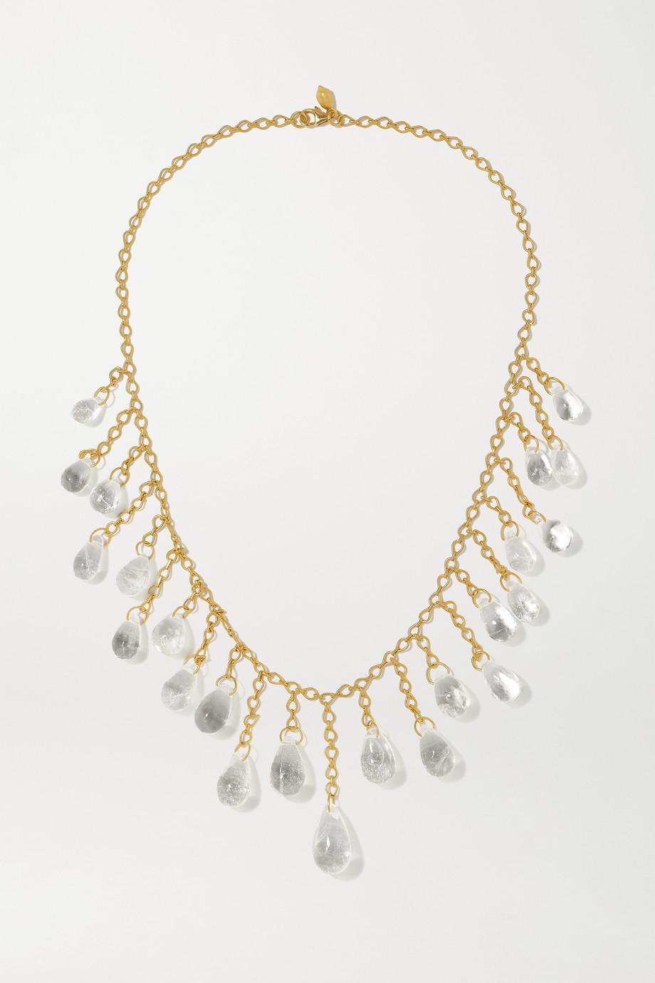 Pippa Small Collier en or 18carats et quartz