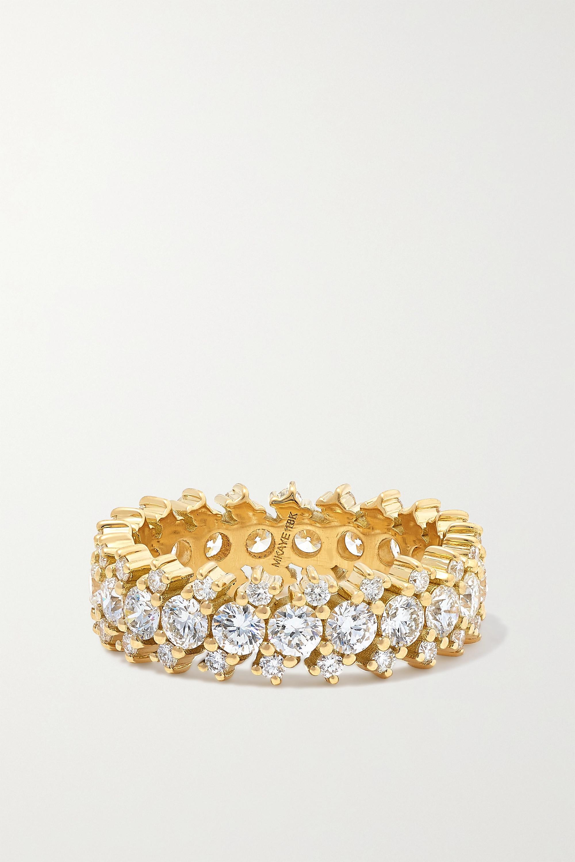 Melissa Kaye Maya Cigar Ring aus 18 Karat Gold mit Diamanten