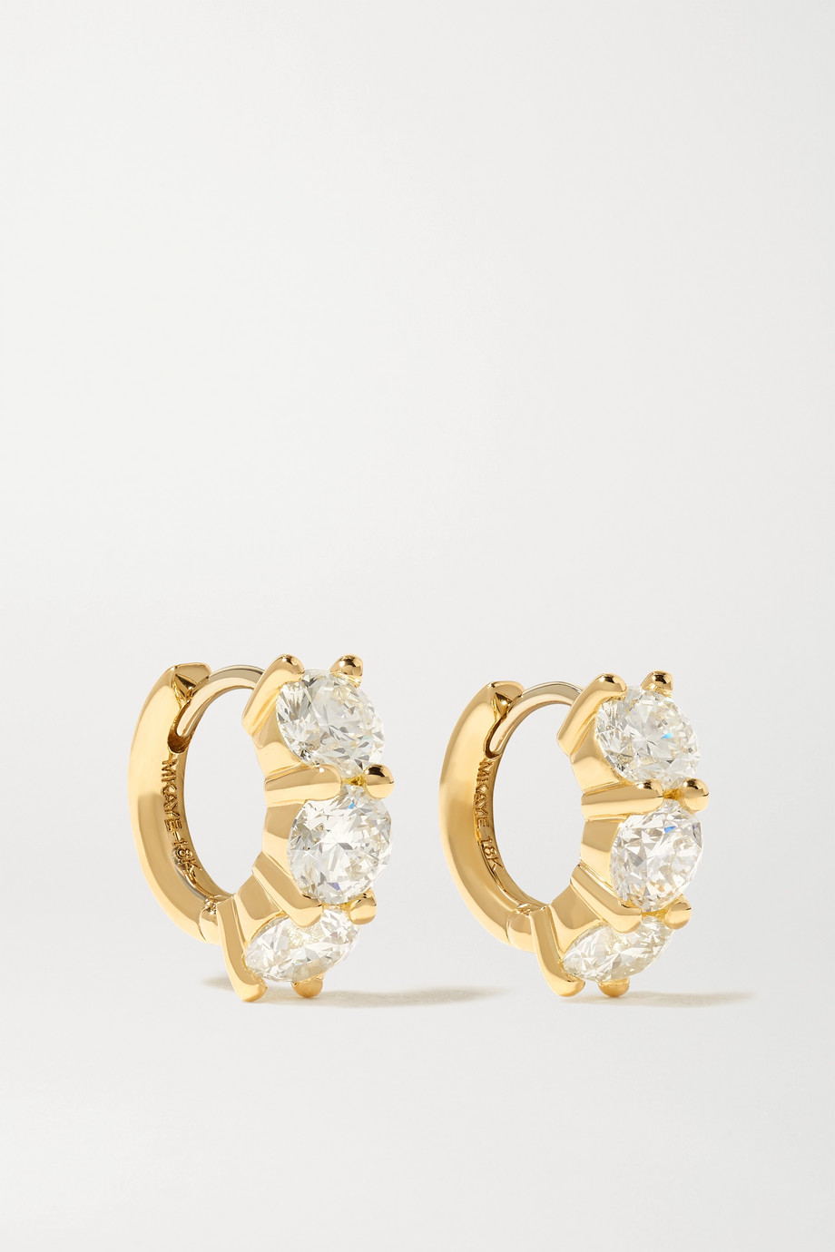 Melissa Kaye Sadie 18-karat gold diamond earrings