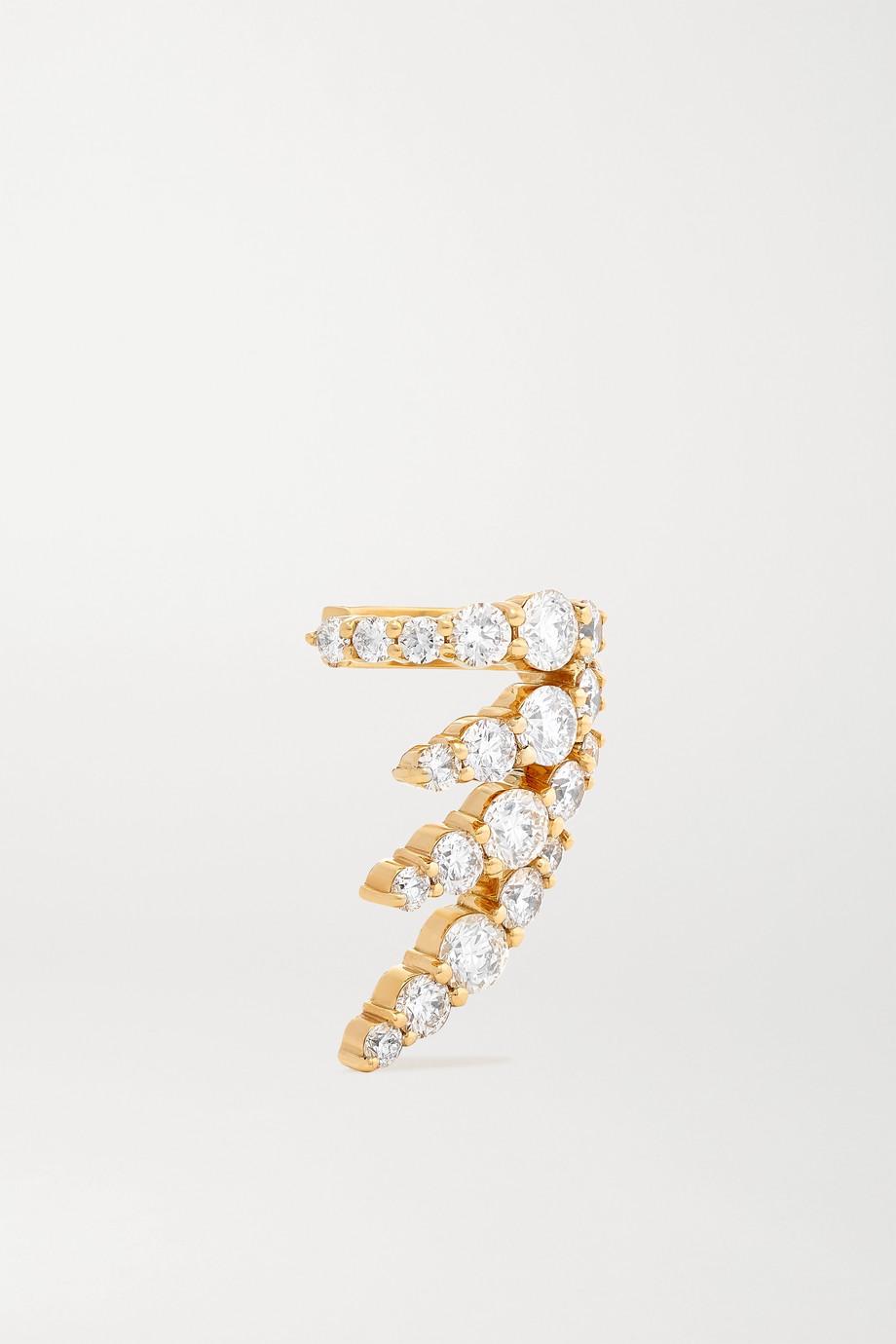 Melissa Kaye Maya 18-karat gold diamond ear cuff