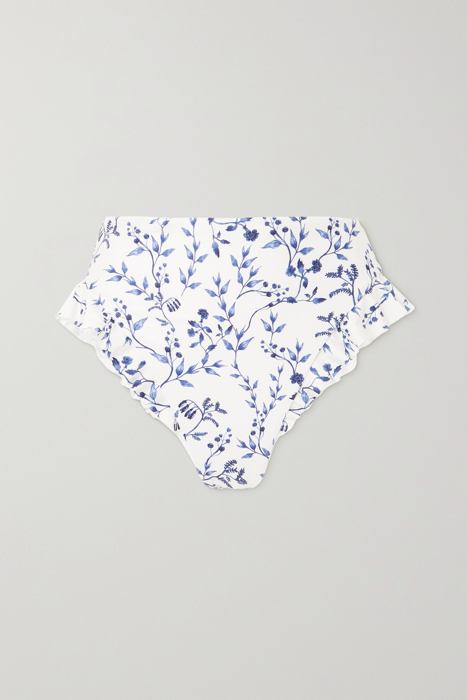 Agua by Agua Bendita Jengibre ruffled printed bikini briefs