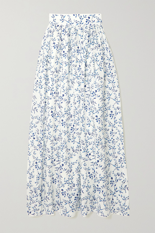 Agua by Agua Bendita Printed cotton maxi skirt