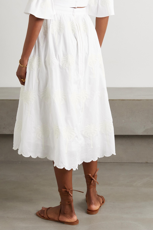 Agua by Agua Bendita Curcuma Bruma embroidered cotton skirt