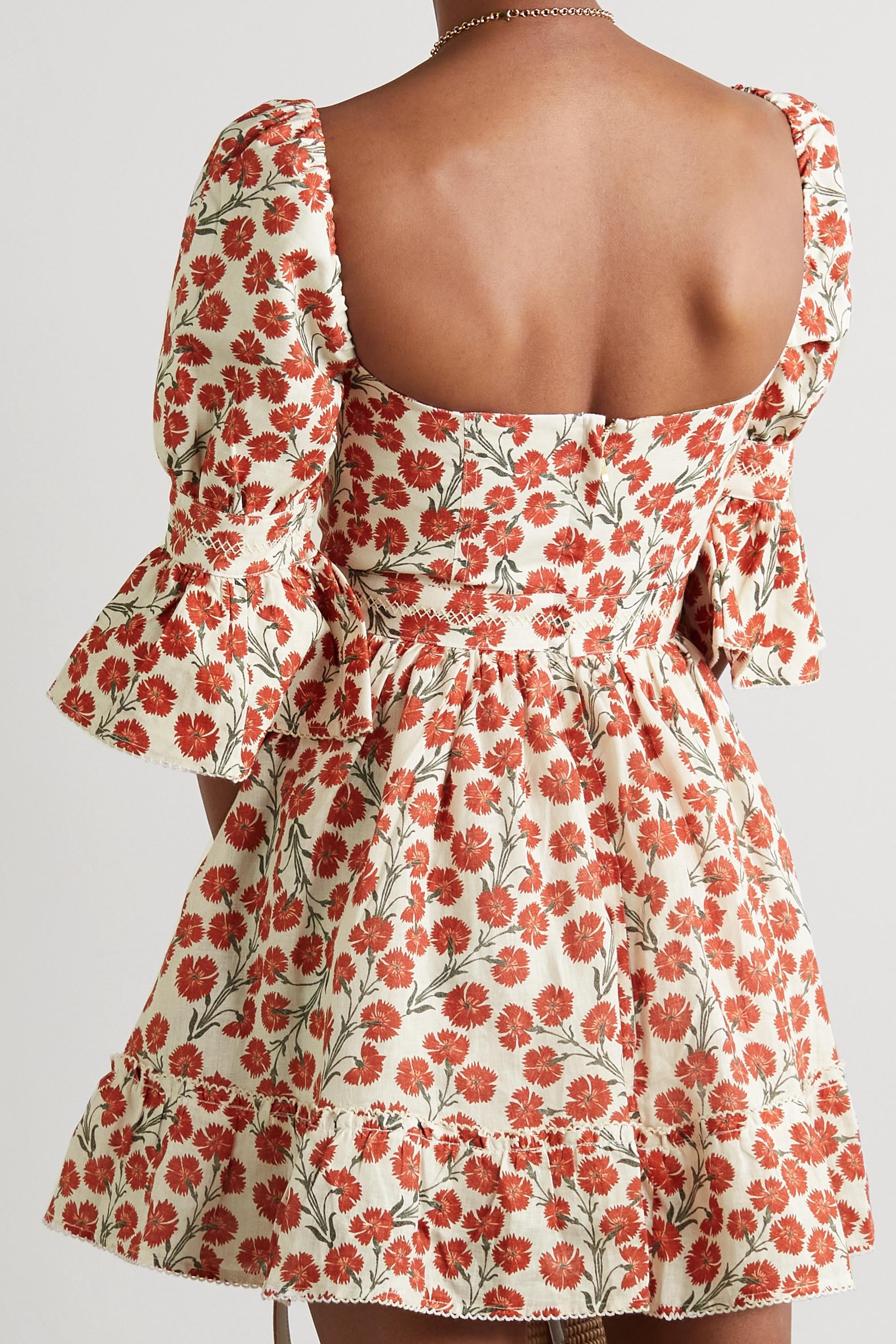 Agua by Agua Bendita Cedro floral-print cotton mini dress